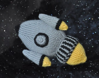 Knit Rocketship Pattern PDF