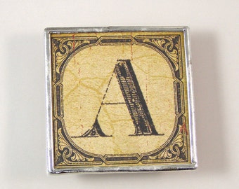 Letter A Initial Magnet