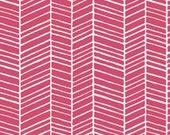 True Colors by Joel Dewberry  / Herringbone in Pink /  1 yard Cotton Quilt/Apparel Fabric