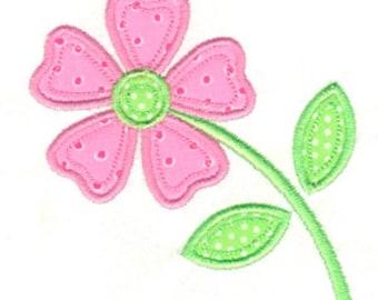 Applique Flower, Flower Applique, Flower Embroidery, Spring Applique, Floral Applique, Machine Embroidery Design, Flower, Instant Download