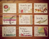 Wisdom set no. 10 - daily wisdom cards - set of 9 - ATC sized