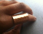 Hammered Copper Ring (Adjustable)