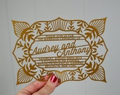 Ritzy Wedding Invitations, Laser Cut, 100 pcs