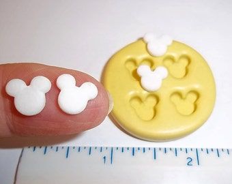 Set/4 Mouse Flexible Push Mold For Resin Polymer Candy Chocolate - Food Safe Silicone  M626