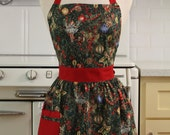 Retro Apron Christmas Fairies - CHLOE