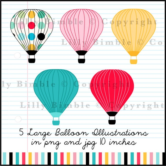 50 Off Sale Hot Air Balloons Clipart With Bright By