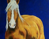 Original Oil Painting Draft Horse Painting by Artist  Debra Alouise Belgian Horse Portrait Contemporary art