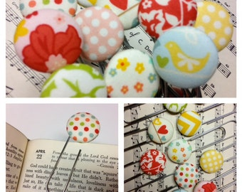 Button Bookmarks-The Bookworm's Dream-The Sweetest Thing