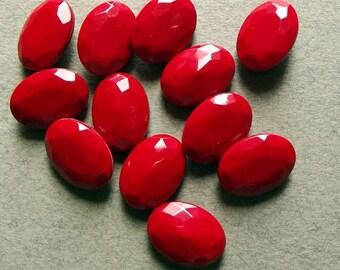 Vintage red faceted gems