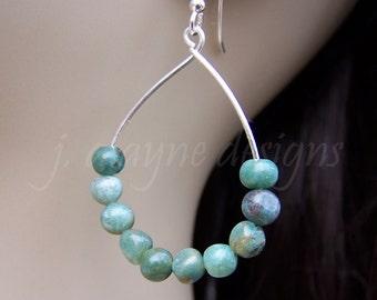 African Jade Earrings. Jade Earrings. Pebble Earrings. Teardrop Earrings. Good Luck Jewelry