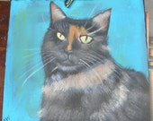 Custom Pet Portrait  Original painting of your Cat Dog Portraits from your photo Great gift