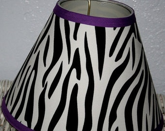 ON SALE ZEBRA Lamp Shade made 2 match Pottery Barn Teen Any Color Trim Available
