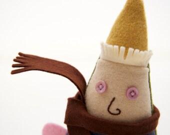Christmas Decoration, Elf Doll, Felt Toy, Garden Gnome, Wool Doll, Christmas Elf, Handmade Plush Elf, Holiday Doll, Stuffed Elf, OOAK Doll