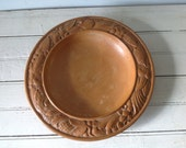 Decorative Wooden Coffee Table Bowl with Carved Rim