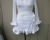 Bride Aprons - White Aprons - Bridal Aprons - Here Comes The Bride Aprons -  Shabby Chic Aprons - French Flea Market Chic Apron