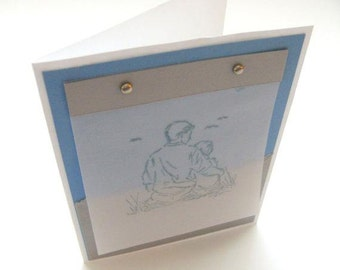 FATHER'S DAY CARD / Hand stamped / Stampin Up on Vellum