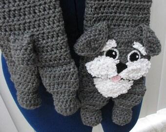 Crochet Pattern - Schnauzer Scarf Pattern - Schnauzer Pattern - Men's Scarf - Women's Scarf - Dog Theme Gifts - Animal Pattern - Crochet Dog