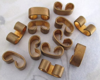 30 pcs. vintage raw brass connectors 5mm thick - f4110