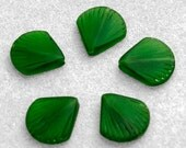 Shamrock Green Baby Clam Shell Pendant- recycled glass