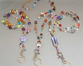 Goes with Anything - Everything Beaded ID Badge Holder Lanyard Bead Necklace or for Glasses