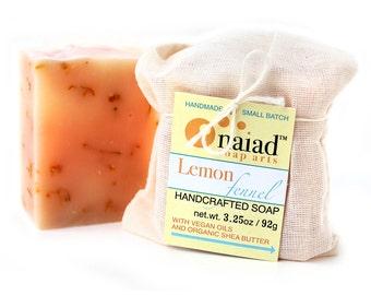 Lemon Fennel Shea Butter Soap - all natural