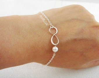 Infinity Monogram Bracelet Personalized Initial By Hotmixcold