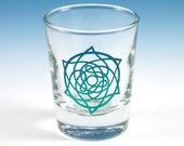 Celtic Star Shot Glass - Etched and Painted Glassware - Custom Glass Barware