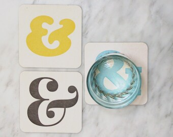 Ampersands in Color: Letterpress Coasters & More Letterpress Coasters (10ct)
