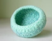 Bowl - Felted Wool in Mint Heather
