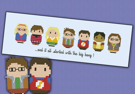 The Big Bang Theory parody - Cross stitch PDF pattern