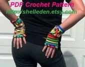 Instant Download PDF Crochet Pattern for Mix n Match Handwarmers Fingerless Gloves