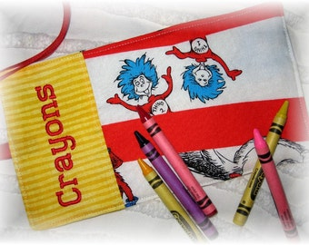 Personalized Crayon Wrap Roll Up Organizer