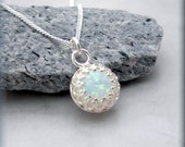 Opal Necklace October Birthstone Gemstone Jewelry (SN763)
