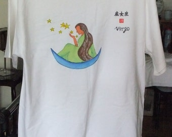 Hand-painted T-Shirt  (Virgo)