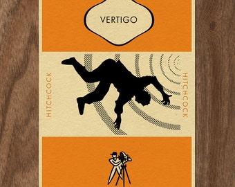 Alfred Hitchcock's VERTIGO Penguin Book Cover-inspired Print