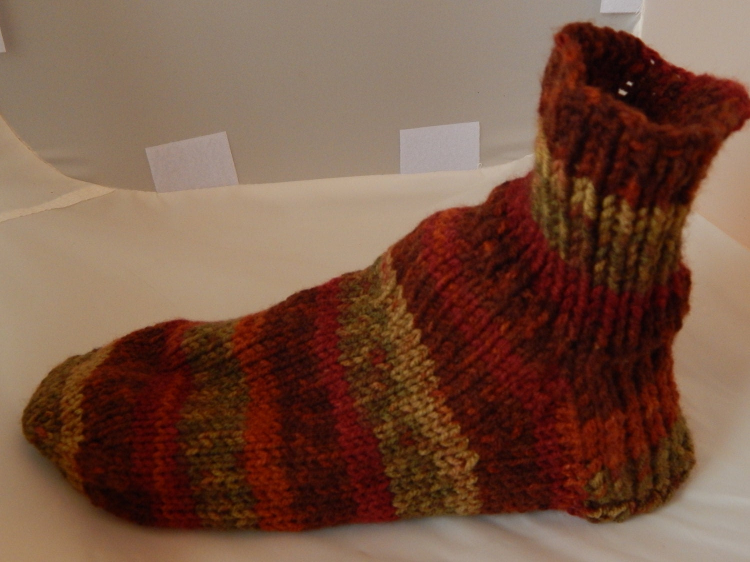 Mens Slippers Knitting Pattern : Mens Knit Sock Slipper Pattern