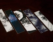 One of a Kind Fractal 'Slice' Bookmark Assortment - Black & White (set of 5)