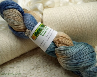 Hand painted Mousoucot Bamboo/Cotton yarn, 4 oz, Seafoam