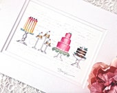 PRETTY CAKES Matted Print