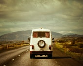 The Road Trip - Vintage Camper, Summer Vacation, Landscape Photography, Iceland, Car, Family Van, Adventure Travel - EyePoetryPhotography