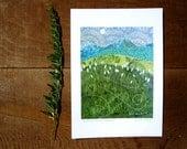 Wildflower Mountain Escape, Archival Reproduction Print 5 x 7