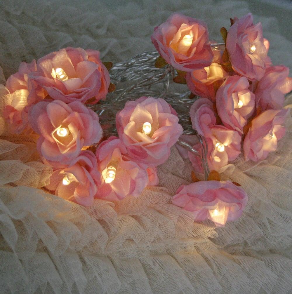 2015 Edition Sugar Pink Shabby Rose Fairy Lights Pretty