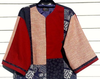 Red, White, and Indigo with a Surprise Applique