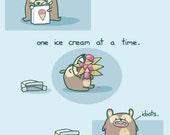 How To Eat Ice Cream Art Print