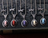 Skull Cameo Necklace- Choose a color