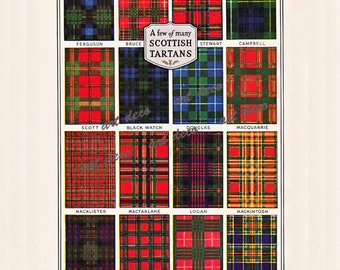 Scottish Tartans, a printable digital collage sheet, no. 269