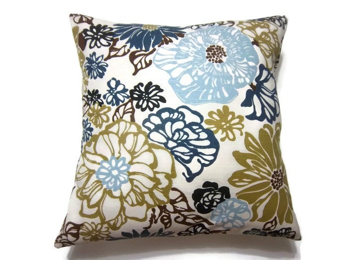 Decorative Pillow Cover Navy Blue Baby Blue Olive Green Black
