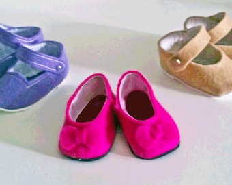 "Felt shoes sewing pattern PDF sized for 15"" babydolls such as Bitty Baby & similar dolls"