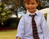 Valentines Day Boys Necktie - Love Neck Tie Black Cotton - boy's pre tied neckties - necktie gift infant, baby, toddler, child, preteen, kid