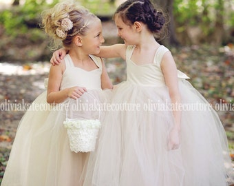 Champagne Flower Girl Dress 6. 7. 8.